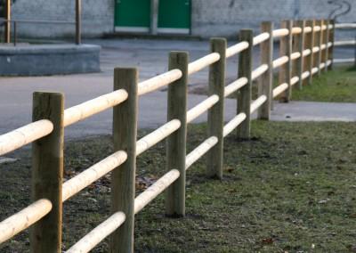 Nieuw rond door rond country fence